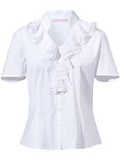 Basler - Bluse mit 1/2-Arm, V-Ausschnitt und Rüsche