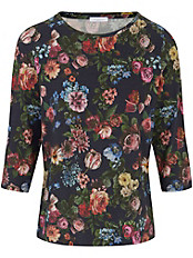 Efixelle - Shirt mit 3/4 Arm und in Gobelin-Optik