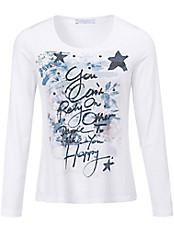 Efixelle - Shirt mit Plättchen und Schriftzügen vorne