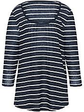 Emilia Lay - Rundhals-Shirt mit 3/4-Arm aus 100% Leinen