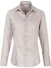 Eterna - Bluse mit breiter Manschette zum Umschlagen