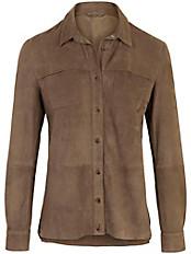 Inkadoro - Lederhemd aus 100% Leder in sporitvem Stil