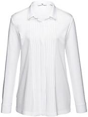 Peter Hahn - Jersey-Bluse mit Hemdkragen