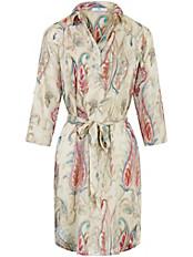 Peter Hahn - Kleid mit kurzer Knopfleiste und Bindegürtel