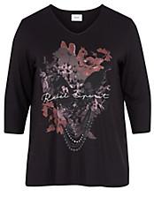 zizzi - V-Shirt mit 3/4-Arm
